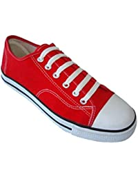 Mens Classic Canvas Lace Up Shoes Sneakers 4 Colors Available