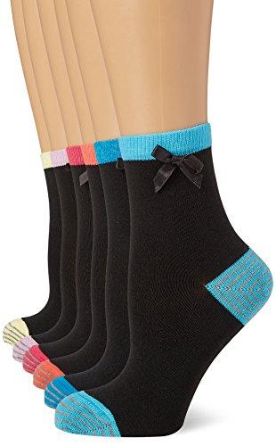 Heel lot De 4 Fm size Toe And 8 Noir Chaussettes London Femme Unique 12 Taille fvqR7O5v