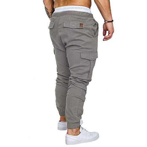 Coton Pour Rayures Tissés Amuster Homme Taille Et Rayé Sarouel De Hommes Grande Élastique Lin Sport Foncé En Pantalons Pantalon Gris Colorées À wFq7Y