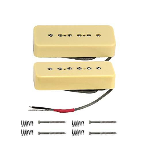 FLEOR Alnico V Single Coil Soapbar P90 Neck/Bridge Pickup (Cream)