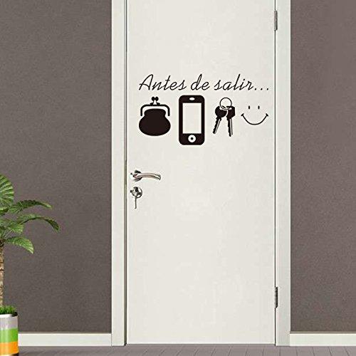 Kuamai Spanisch Vor Verlassen Zitate Lacheln Wand Aufkleber