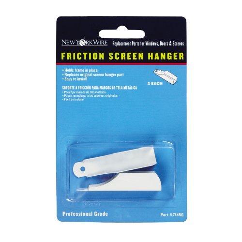 2-pack White Aluminum Frame Screen Hangers for Windows