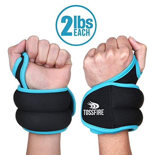 Wrist Weight Set 1 Pair of 2 lbs with Hole for Thumb and Thumb Lock Design for Man Women, Great for Running Weightlifting Training Gymnastic Aerobic Jogging (Weights Wrist Nike)