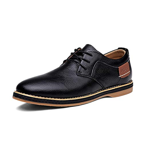 Phil Betty Mens Oxford Shoes Lace Up Warm Wear-Resistant Business Casual Shoes