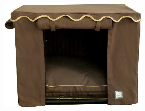 BowhausNYC Teak Crate Cover, Medium, Brown (Cabana Dog Crate Cover)