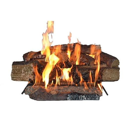 vented gas fireplace logs amazon com rh amazon com Amazon Gas Fireplace Inserts Amazon Outdoor Gas Fire Pit