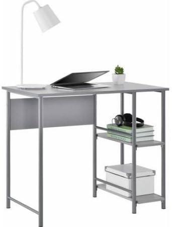 Mainstays Basic Metal Student Desk Light School Gray