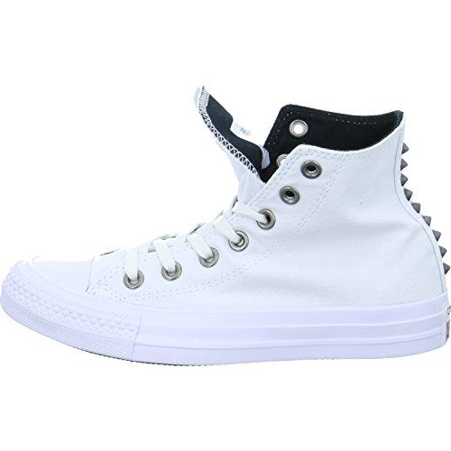 Converse - Converse Ctas Hi Scarpe Sportive Borchie Donna Bianche Blanc Noir