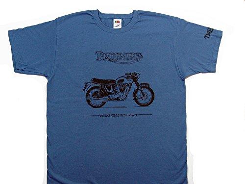 Triumph Bonneville T120T-Shirt–Steel blau Shirt in Größe Klein (34zu 91,4cm)–--- siehe bitte Unsere anderen Angebote für alle anderen Größen des dieses Shirt