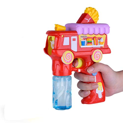 (Bubble Machine, Automatic Bubble Maker Blower with A Bottle of Bubble Solution Over 500 Bubbles -Water Blowing Toys Creative Cartoon Hamburger Bubble Machine Outdoor Kids)