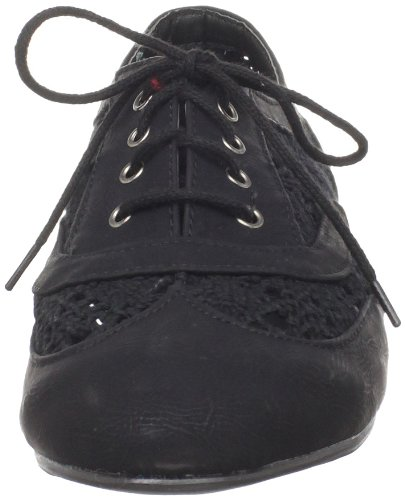 Wanted Black Shoes Lace Wanted Oxford Neat Womens Shoes Up RxPOd8nPw