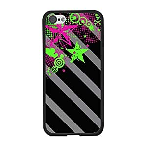 TYH - Personalzied Hipster Art Design Case Cover for Iphone 6 plus 5.5 Case Retro Vintage Print Hard Plastic Protective Phone Back Cover Skin (bright colors skull) ending phone case