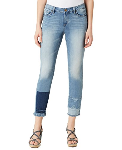 Vintage America Blues Women's Angie Boho Skinny Ankle with Patchwork Hem, Sea Stories, 2 ()