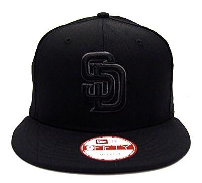 San Diego Padres New Era Charcoal Logo Snapback Cap Hat Black