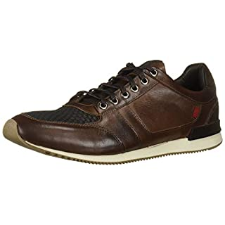 Marc Joseph New York Men's Genuine Leather Made in Brazil Luxury Fashion Trainer Sneaker, Cafe nappa Soft, 8 M US