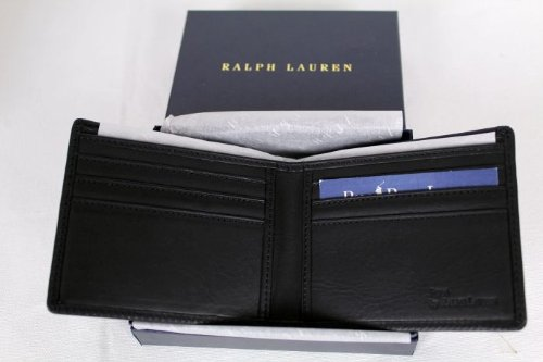 Polo Ralph Lauren Mens Leather Big Pony Wallet One Size Black