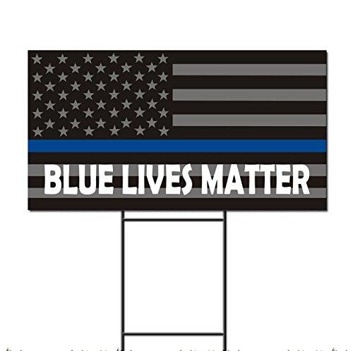 Blue Lives Matter Police Sheriff American Flag Corrugated Pl