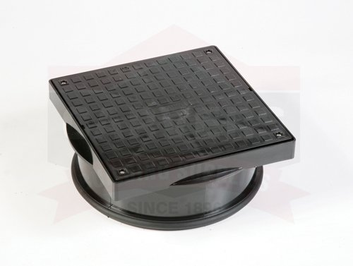 300X300mm lid O/A 320mm Square Inspection Manhole Cover And Frame Polypipe UG502