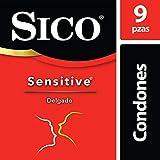 Sico Sensitive, Condones Delgados Sensibilidad, paquete con 9 Piezas