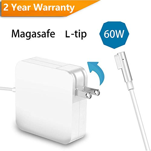CulaLuva for MacBook Pro Charger 60W Magsafe L-Tip Power Adapter for MacBook Pro 13-inch Before Mid 2012 by CulaLuva