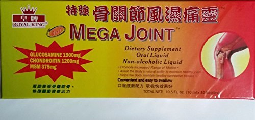 Royal King - Mega Joint Non-Alcoholic Liquid, 10 ml x 30 Bottles by Royal King (Joint Mega)