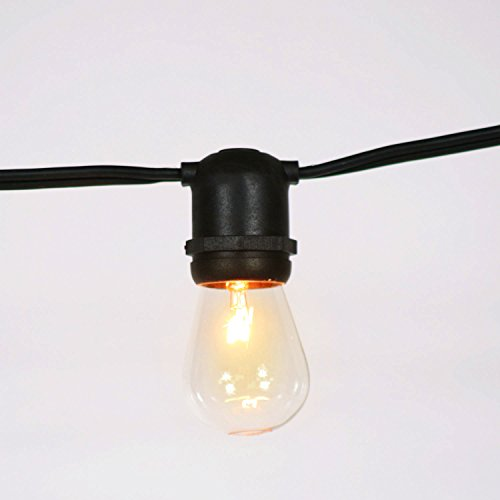 Weatherproof Commercial Heavy Duty Vintage Outdoor Patio Edison String Lights, 54 Ft, 24-Socket ...
