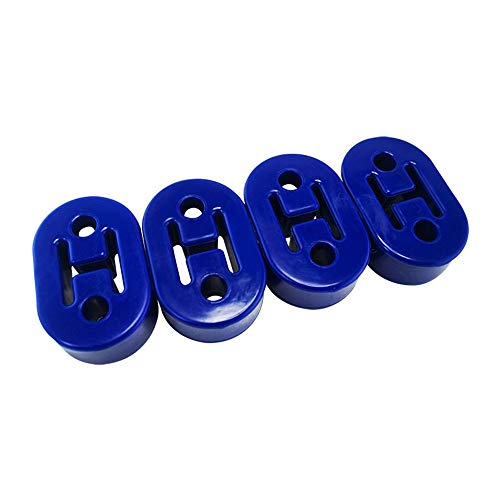 PTNHZ RACING Universal 4PCS Polyurethane Exhaust//Muffler Rubber Short Hanger Insulator Bracket Bushing Mount 10mm Blue
