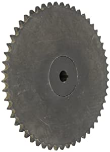 "Tsubaki 60B60F-1B Finished Bore Sprocket, Single Strand, Inch, #60 ANSI No., 3/4"" Pitch, 60 Teeth, 1-1/8"" Bore"