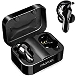 Wireless Earbuds, Bluetooth 5.0 True Wireless Earbuds with Charging Case, Noise canceling Sweatproof Sport Earphones Built-in Microphone for Running Driving, Deep Bass HD Stereo, 20H Playtime