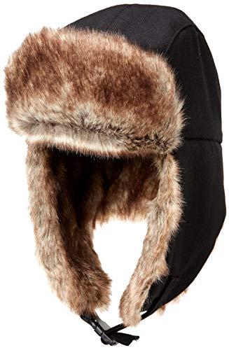 Amazon Essentials Mens Trapper Hat with Faux Fur