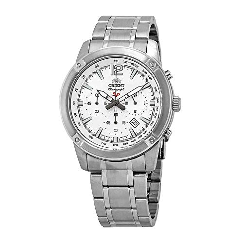 - Orient Sporty Chronograph White Dial Mens Watch FTW01005W