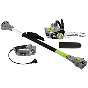 Earthwise 2-in-1 Convertible Pole Chain Saw, 10″