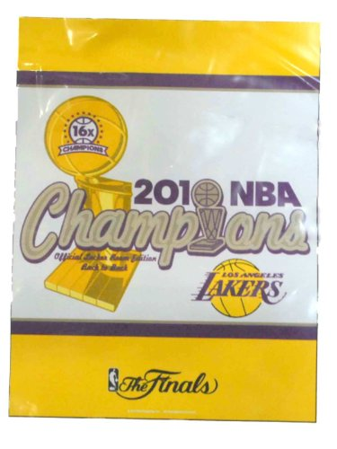 Los Angeles Lakers WinCraft Yellow Purple 2010 NBA Champions Vertical Flag