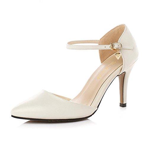 en femmes danse EU36 8cm Chaussures Couleur à pour bout Sandales de cuir 8cm fermé Taille UK4 talons PU latine CJC OTHtqz