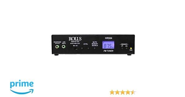 Rolls HRS84 Digital Fm Tuner With Xlrs