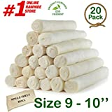 "Retriever roll 9-10"" (20 Pack) Extra Thick Cow Dog Chews️"