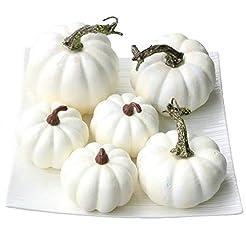 Gresorth 6 PCS Fake White Pumpkins Fall ...