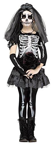 Skeleton Costumes For Girls (Skeleton Bride Kids Costume)