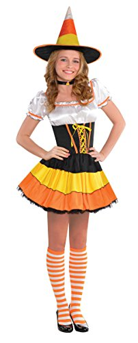 Cuties Oranges Halloween Costume (Amscan Junior's Candy Corn Cutie Halloween Costume, Medium (7-9))