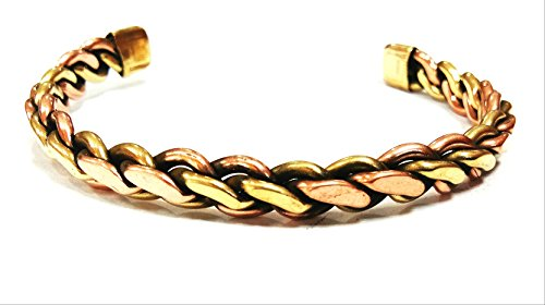 RK'S Attractive Openable to Any Wrist PURE Ashtdhatu (8 Mix Metals) Kada/Bracelet for All - Pure Brass Bangle