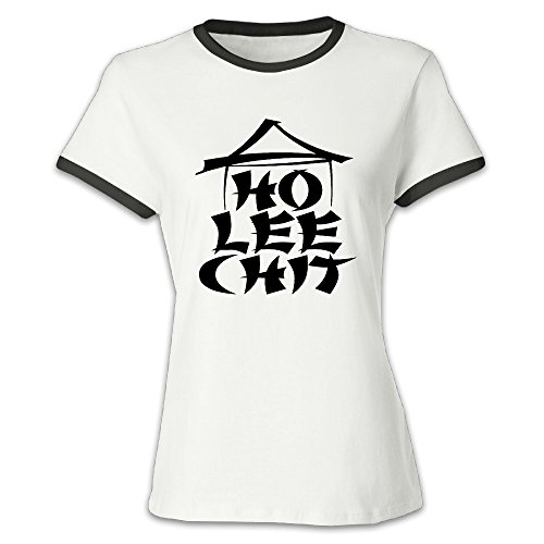 Women's Ho Lee Chit Holy Shit Funny Graphic Funny Color Block T-shirts Black