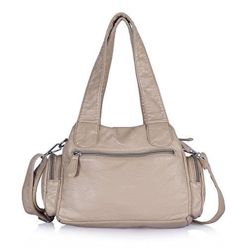Angel Barcelo Purses and Handbag Women Shoulder Bags Double Zipper Multi  Pocket Mini Size ce8fdbc8b828f
