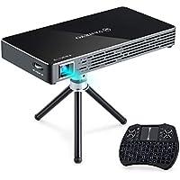 VANKYO Passport M50 DLP Smart Mini Portable Projector, 100 ANSI Lumens w/Andriod 7.1 OS Pre-Installed, WiFi, HDMI, USB, and Micro SD Ports with Free Mini Wireless Keyboard and Tripod