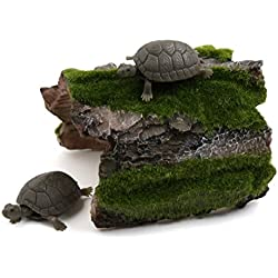uxcell Resin Tree Hole Fluff Decor Reptiles Tortoise Hiding Spot Hideout Ornament