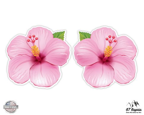 Pink Hibiscus Set of 2 Hawaiian Tropical Theme - 9