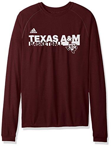 - adidas NCAA Texas A&M Aggies Sideline Grind Climalite Long Sleeve Tee, Large, Maroon