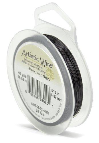 - Artistic Wire 28-Gauge Black Wire, 40-Yards