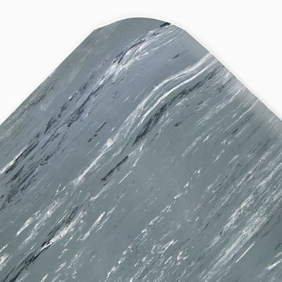 Cushion-Step Surface Mat, 36 x 60, Marbleized Rubber, Gray, Sold as 1 ()
