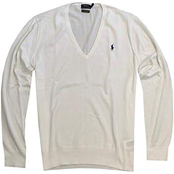 RALPH LAUREN Polo Womens V-Neck Pima Cotton Sweater (Large 686269ddf