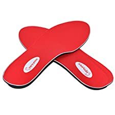 Instant-Relief Orthotics for Flat Feet by Samurai Insoles- Plantar Fasciitis, Heel Spur, Pain Relief Guaranteed! Deliver Happy Feet Using Our Proven Arch Support Shoe Insert in most Mens/ Womens Shoes